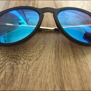 J Crew Sunglasses - Blue Mirrored